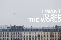 I really do want to travel... and I don't want to wait until I'm retired to do it! Hopefully I will get the opportunity sooner than later.