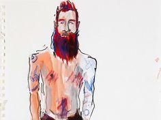 Richard Haines usa el estilo instantáneo de los figurines de moda en dibujos de…