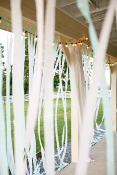 love these streamers lining the pavilion! | Megan W