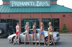 PA Bikini Team at Primanti Brothers Car Wash for charity