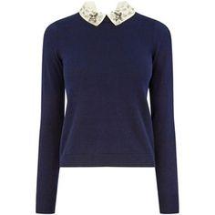 OASIS Embellished Collar Knit