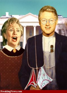 The Clintons In American Gothic