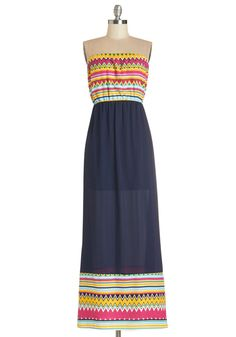 Zing Along Dress. Youll find yourself singing a joyful song when you slip into this radiant, strapless maxi dress!  #modcloth