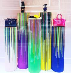 """SAKS FIFTH AVENUE, Eaton Centre, Toronto, Canada, """"Life was meant to be colorful"""", pinned by Ton van der Veer"""