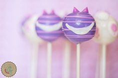 Cheshire Cat and Bunny Bottom Cake Pops Alice in Wonderland