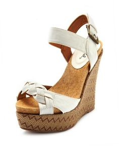 Braided-Front Zigzag Wedge: Charlotte Russe