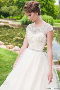 eugenia couture 2014 bridal vera cap sleeve wedding dress