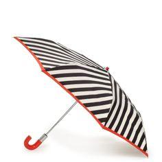 Umbrella by Kate Spade: Black, white & red, $75 #Umbrella #Kate_Spade