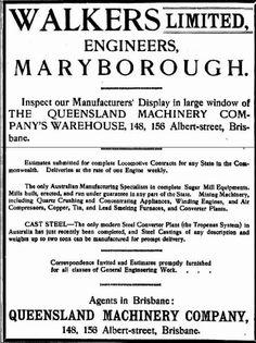 Walkers Ltd Engineers, Maryborough 1913