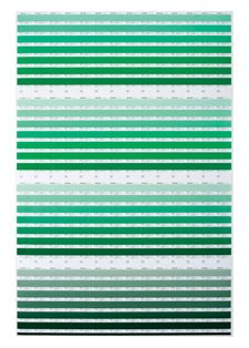 Pantone - PANTONE PRESS SHEET POSTER: Green. How cool to decorate with these in all colors.