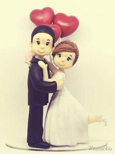Wedding Cake Toppers, Wedding Cakes, Box Frame Art, Bridal Chuda, Marriage Cards, Doll Making Tutorials, Cake Topper Tutorial, Fondant Cake Toppers, Cake Images