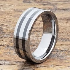 Vesta is grooved and is best suited for men's wedding ring. Vesta bands can be used as fashion rings do to their everyday incredible strength. Unique Mens Rings, Rings For Men, Mens Silver Wedding Bands, Chunky Silver Rings, Black Tungsten Rings, Personalized Rings, Personalized Wedding, Black Rings, Fashion Rings
