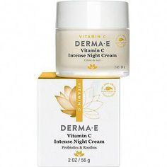 Derma E Vitamin C Intense Night Crème #FirmingEyeCream Vitamin C, Drug Store Face Moisturizer, Skin Brightening, Lotion, Skin Care, Tips, Night, Wrinkle Creams, Face Creams