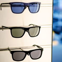 Versatile rectangular sunglasses from the men's Fall 2015 Calvin Klein Collection is a luxurious essential.