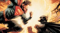 Batman and Superman are total frenemies. In the DC Comics, Bruce Wayne and Clark Kent have been BFFs, but the superheroes have also hated each other. Dc Comic Books, Comic Book Heroes, Comic Art, Hq Marvel, Marvel Dc Comics, Captain Marvel, Comic Book Characters, Comic Character, Superhero Characters