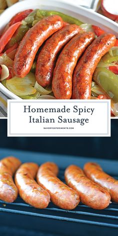 Learn how to make Homemade Italian Sausage, a fun and fulfilling process. Adjust… Learn how to make Homemade Italian Sausage, a fun and fulfilling process. Adjust the heat and the ingredients for a custom blend every time! Summer Sausage Recipes, Smoked Sausage Recipes, Bratwurst Recipes, Homemade Italian Sausage, Homemade Sausage Recipes, Sweet Italian Sausage, Italian Sausage Ingredients, Homemade Summer Sausage, Home Made Sausage