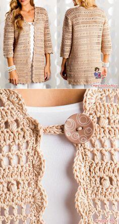 weibliche-weste-muster-stricken-stricken-baby-weste-muster-hakeln-baby-bella/ - The world's most private search engine Diy Crochet Sweater, Crochet Coat, Crochet Jacket, Crochet Blouse, Crochet Clothes, Knit Vest, Crochet Bolero Pattern, Vest Pattern, Knitting Patterns