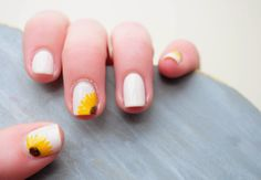 Items similar to Sunflower Hand Painted Fake Nails on Etsy Sunflower Nails, Sunflower Shorts, Gold Acrylic Nails, Party Nails, White Nail Designs, Healthy Nails, Halloween Nail Art, Artificial Nails, Nail Decorations