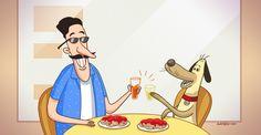 Son cada vez más los locales de comida que aceptan el ingreso de perros y que incluso ¡tienen una carta especial para ellos!