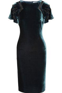 Sale £166.25 Original price £508.25 Embellished velvet dress | Badgley Mischka