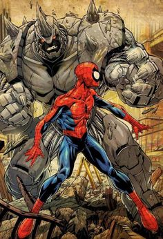 Spiderman vs Rhino. Rhino looks like Megatron in the movies o_O