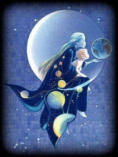 sage is a cancer moon child Sun Moon Stars, Sun And Stars, Art Et Illustration, Illustrations, Cancer Moon, Moon Pictures, Moon Magic, Beautiful Moon, Moon Goddess