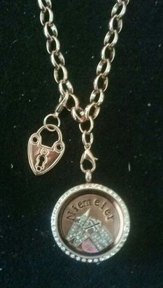 Rosegold Rolo Chain and Floating Charms Locket ... email DNACustomJewelry@gmail.com