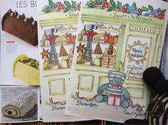 paris breakfasts: Noël Galeries Lafayette, Own-Your-Own-Patisserie December Letter