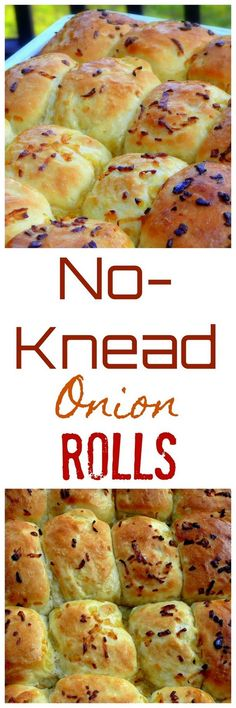 oft and airy, these No-Knead Onion Rolls are the perfect addition to any dinner or lunch menu. It couldn't be easier than making the dough, letting it rise and shaping into balls for the oven.