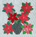 Free Block Pattern: Poinsettia from Quilters Newsletter