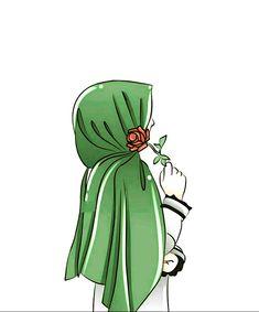 Cute Cartoon Girl, Cartoon Art, Vector Character, Portrait Vector, Hijab Drawing, Islamic Cartoon, Anime Muslim, Hijab Cartoon, Islamic Girl