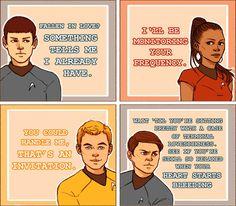 Star Trek valentines!  and a bonus spock one:-PP LOL, Loves Bone's
