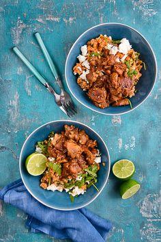 picante-jalapeno.blogspot.com Feta, Curry, Ethnic Recipes, Bulgur, Recipies, Curries