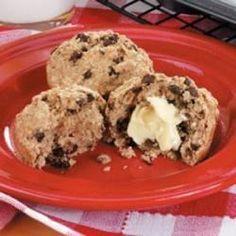 Banana-Chip Oat Muffins - Allrecipes.com