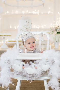 Lillya's 1st Swan Lake Birthday Party | Dress and headband from tutu de Monde