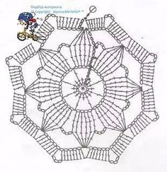 How to Crochet a Puff Flower Baby Afghan Crochet Patterns, Granny Pattern, Crochet Snowflake Pattern, Crochet Snowflakes, Crochet Flower Patterns, Crochet Squares, Crochet Flowers, Crochet Diagram, Crochet Chart