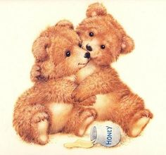 Honey Bears is one of my favorite Teddy Bear image. My hubby bought me a card… Tatty Teddy, Teddy Bear Images, Teddy Bear Pictures, Baby Teddy Bear, Cute Teddy Bears, Baby Bears, Bear Cubs, Bear Clipart, Illustrator