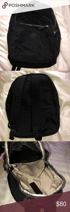Kipling large laptop backpack Has 3 zippers, unisex, has section for laptop, brand new Kipling Bags Backpacks