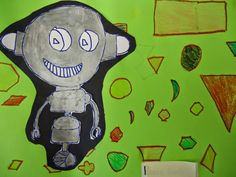 The 2nd grade worked on Geometric shapes by creating shape robots. The first thing in this...