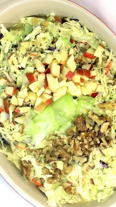 Waldorf Salad Style Cole Slaw   This is a Bag of Cole Slaw upgrade.  Simple and CHEAP turns into something Simple CHEAP and now DELICIOUS when the classic ingredients of a famous Waldorf Salad are combined with  this easy simple and cheap bagged cole slaw upgrade