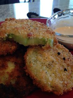 Emilisq: FRIED GREEN TOMATOES. I think I will use 3 parts cornmeal and one part flour instead if the flour and breadcrumb mixture.