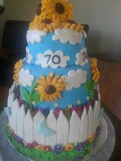 50th Birthday cake for a garden lover, via Flickr.