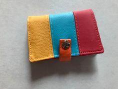 Portefeuille Compère tricolore cousu par Jocelyne - Patron Sacôtin