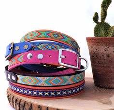 Ethnic dog collars by Squirrel and Bird