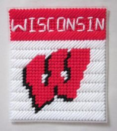 Wisconsin tissue box cover in plastic canvas PATTERN ONLY by AuntCC for $2.50