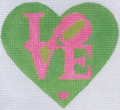 Hand painted needlepoint canvases by Kate Dickerson (KSH) - charming mini needlepoint designs, available in monthly clubs Wedding Cross Stitch, Cross Stitch Heart, Counted Cross Stitch Patterns, Cross Stitches, Needlepoint Designs, Needlepoint Kits, Needlepoint Canvases, Needlepoint Stitches, Mini Heart