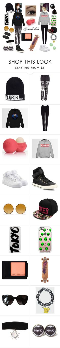 """""""#38"""" by spider-1505 on Polyvore featuring Lee, Eos, NIKE, Converse, Matthew Williamson, Casetify, Maybelline and Chanel"""