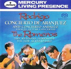 Rodrigo: Concierto de Aranjuez for Guitar and Orchestra - Allegro con spirito San Antonio, Lp Cover, Classical Guitar, Music Albums, Music Lovers, Great Books, Orchestra, My Music, How To Memorize Things