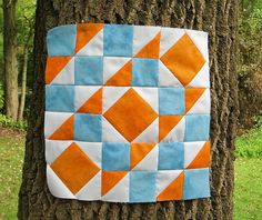 The Academic Quilter: Intricate Stitches--Orange renewal