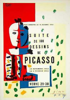 For Sale on - Suite de Dessins - Litograph On Arches Vellum - Verve, Mourlot, Lithograph by (after) Pablo Picasso. Offered by Artfever Gallery. Art Exhibition Posters, Museum Exhibition, Art Museum, Kunst Picasso, Art Picasso, Picasso Portraits, Vintage Posters, Vintage Art, Vintage Graphic